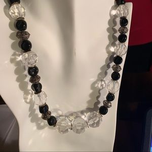 Jewelry - Black and crystal necklace.